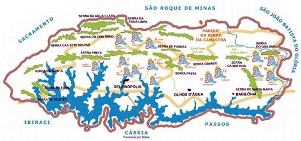 Mapa Cachoeiras