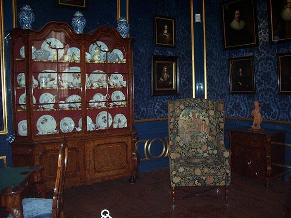 Detalhe do salão de jogos onde o casal Willet Holthuysen recebia os convidados