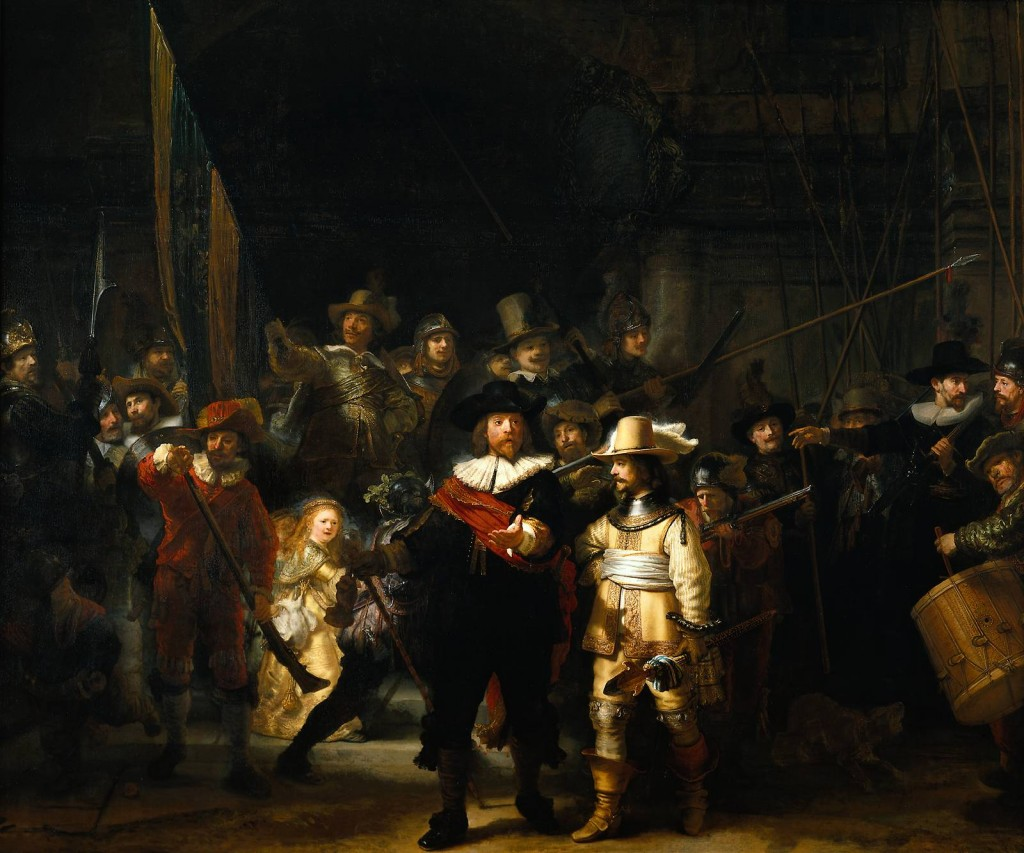 The Night Watch, quadro de Rembrandt que inspirou as esculturas da Rembrandt Plein
