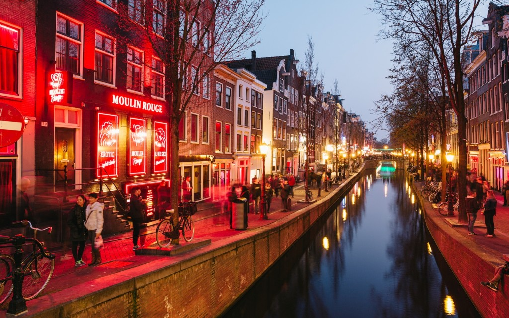 Red Light District, talvez o bairro mais famoso de Amsterdam