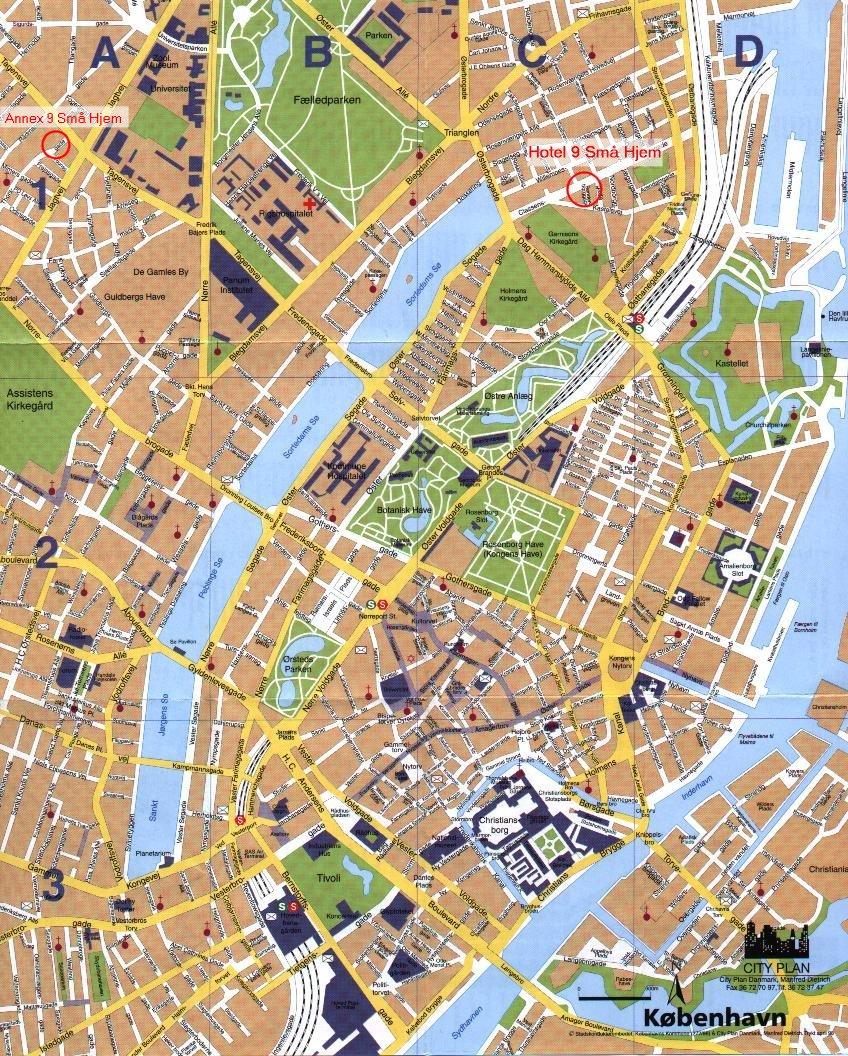copenhaga mapa Parte central de Copenhague | Fora do Mapa copenhaga mapa